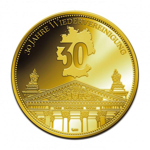 Sonderprägung 30 Jahre Wiedervereinigung - Gold